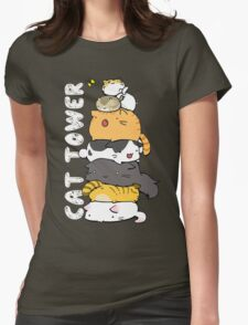 Cat Tower Womens Fitted T-Shirt