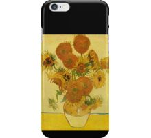'Still Life with Sunflowers' by Vincent Van Gogh (Reproduction) iPhone Case/Skin