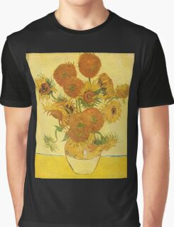 'Still Life with Sunflowers' by Vincent Van Gogh (Reproduction) Graphic T-Shirt