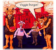 Giants Like Veggie Burgers Photographic Print