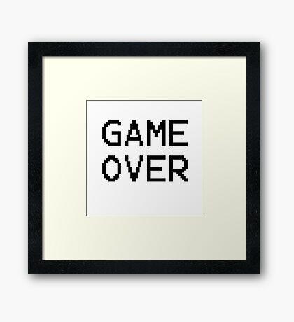 Game Over - Gamer Text Framed Print