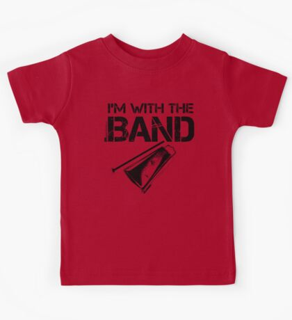 I'm With The Band - Cowbell (Black Lettering) Kids Tee