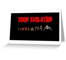 Doom Evolution Greeting Card
