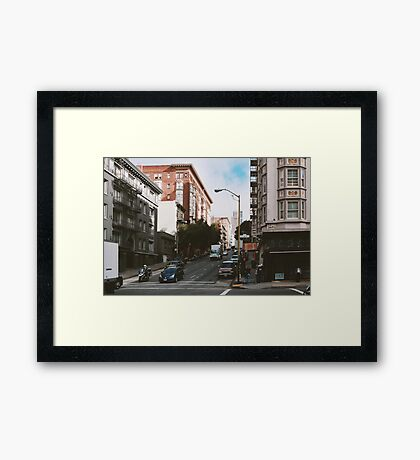 On Geary Street (San Francisco) Framed Print