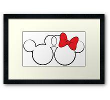 Minnie and Mickey Framed Print