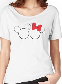 Minnie and Mickey Women's Relaxed Fit T-Shirt