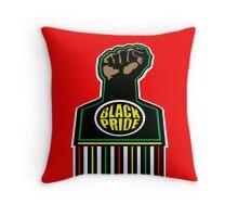 BLACK FIST, BLACK PRIDE Throw Pillow