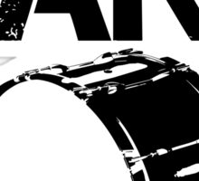 I'm With The Band - Bass Drum (Black Lettering) Sticker