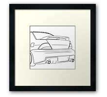 evo outline - black Framed Print
