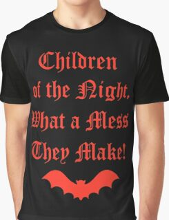 Dracula Dead and Loving It: Children of The Night Graphic T-Shirt