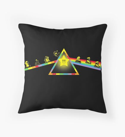 The Dark Side of The Rainbow Road Throw Pillow
