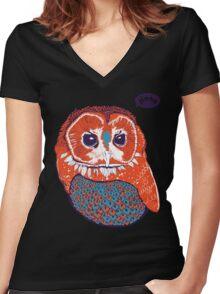 Hoo Women's Fitted V-Neck T-Shirt