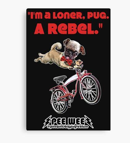 Rebel Pee Wee Canvas Print