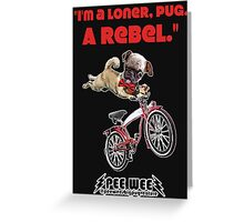 Rebel Pee Wee Greeting Card