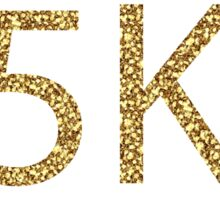 5k sparkly run Sticker
