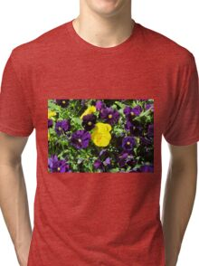Purple And Yellow Flowers Tri-blend T-Shirt