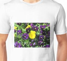 Purple And Yellow Flowers Unisex T-Shirt