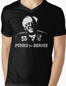Punks for Bernie Mens V-Neck T-Shirt