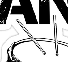 I'm With The Band - Snare Drum (Black Lettering) Sticker