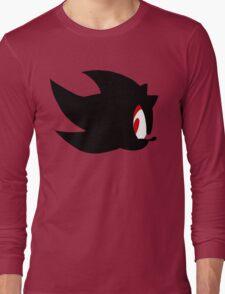 Shadow the hedgehog silhouette  Long Sleeve T-Shirt