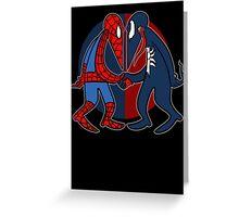 Spider vs Symbiote Greeting Card