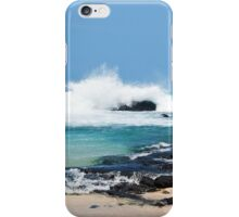 Hawaiian Coast Ocean Waves Rocky Beach Landscape iPhone Case/Skin