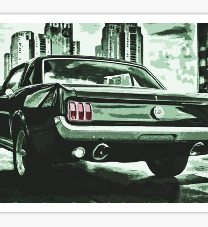 FORD MUSTANG GT illustration 60's edition Sticker