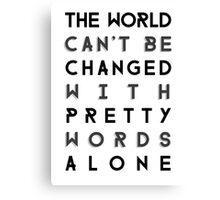 Pretty Words Canvas Print