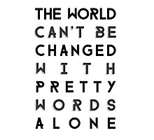 Pretty Words Photographic Print