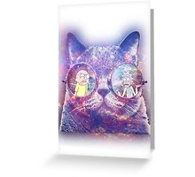 Rick and Morty Galaxy Cat Greeting Card