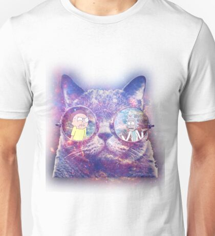 Rick and Morty Galaxy Cat Unisex T-Shirt