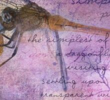 Simple Pleasures IV ~ The Dragonfly Sticker