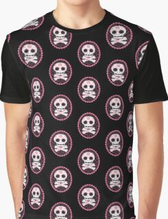 Pink Sugar Skull Vector Graphic T-Shirt