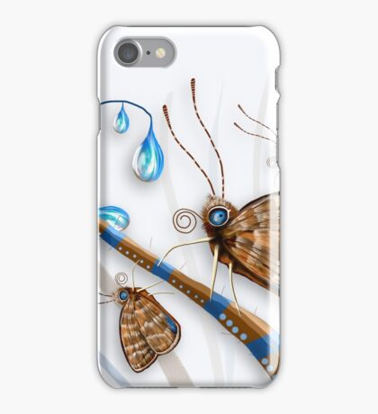 Butterflies and Raindrops iPhone Case/Skin
