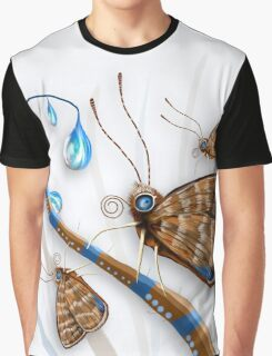 Butterflies and Raindrops Graphic T-Shirt