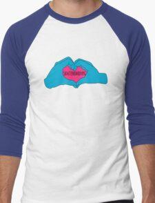I love skateboarding Men's Baseball ¾ T-Shirt