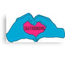 I love skateboarding Canvas Print