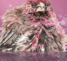 Watercolor Finch Bird Bubble Bathing Fun Animal Sticker