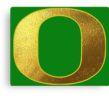 University of Oregon Ducks Gold Canvas Print