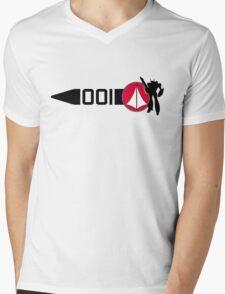 Macross Stripe Mens V-Neck T-Shirt