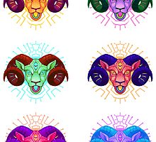 Electric sheep sticker set 1 by psychonautic
