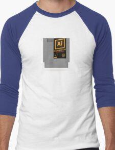 NES Cartridge - Illustrator CS6 Men's Baseball ¾ T-Shirt