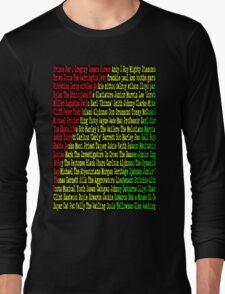 Reggae Artist - Roll Call Long Sleeve T-Shirt