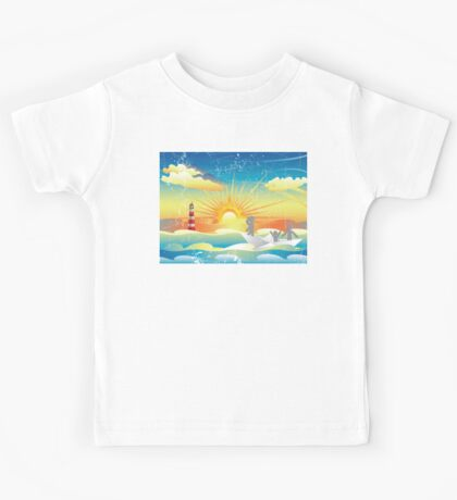 Refugees in Paper Boat 2 Kids Tee