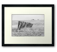 Prairiehenge - BW Framed Print