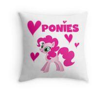 Pretty Pink Pony I Love Ponies Throw Pillow