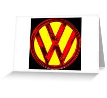 VW Girl Greeting Card