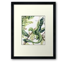 Dragons in the Ferns Framed Print