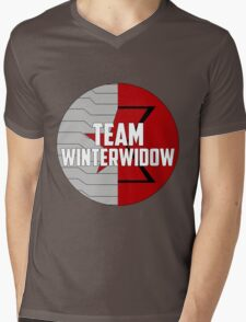 Team WinterWidow Mens V-Neck T-Shirt