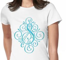 Watercolor Monogram S Womens Fitted T-Shirt